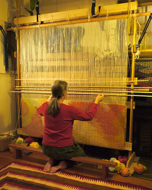 Stephanie Hoppe Working the Loom - Estuary
